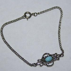 "Vintagejelyfish Jewelry - Stunning silver and turquoise bracelet 7"""